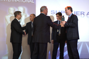 Federal Mogul bosses are presented with the bronze award