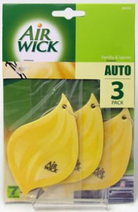 Airwick fragrance cards in a new triple pack