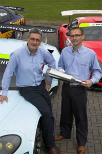 Mick Metcalfe (left) and Scott Parton designed the Prodrive 115 silencer in just 10 weeks