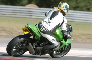 Me on my green demon Kawasaki