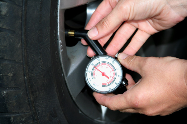 Correct tyre pressure is crucial to safety