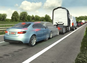 Bosch says predictive emergency braking systems can prevent 3 out of 4 rear-end collisions involving personal injury
