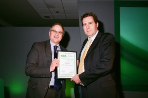 David Main (left) thanks Autodata's Malcolm Rixon