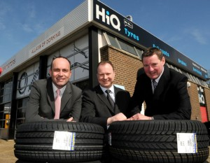Peter Tye, HiQ retail manager with Allam's operations director, Paul Dobson and Jeff Allams