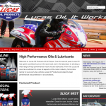 The Lucas website features an online store for suppliers