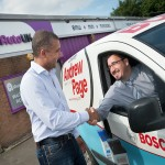 Andy Fox of Independent Automotive in Coventry, with Simon Charlwood, branch manager of Andrew Page Ltd.
