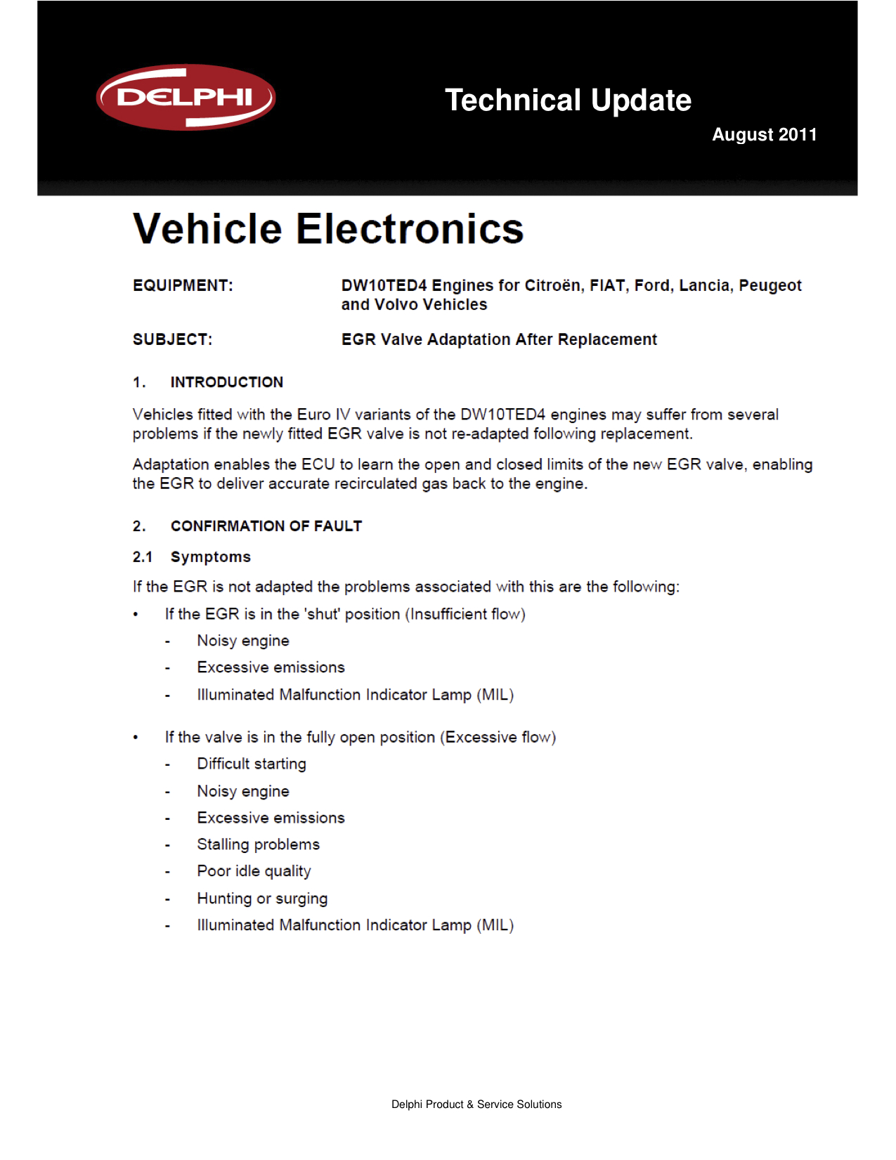 Ford Focus EGR Adaptation 1
