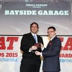 Spartan Motor Factors pick up the award on behalf of Bayside Garage