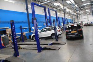 Workshop has 12 service ramps