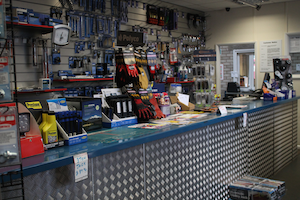 Counter stocks many aftermarket brands