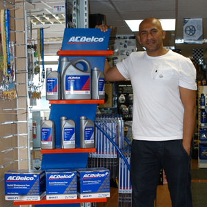Mohammed Ahmed is selling more batteries, lubes and oils