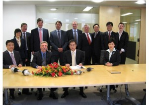 GKN and SAIC sign the deal at a London ceremony