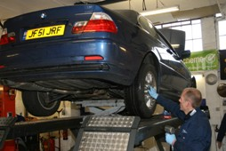 Rob gets to work - to replace a speed sensor on my offside rear tyre