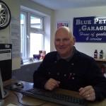 Garage owner Cliff Poulter