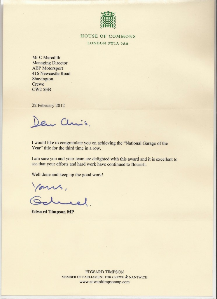 Edward Timpson letter to ABP