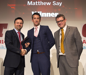 Rising Star of the Year: Matthew Say from Mann+Hummel UK