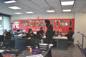 Busy sales office keeps orders coming in